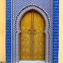 Africa Morocco Fez historic Royal Palace brass doors Islamic architecture colorful mosaic - luxury vacation destinations