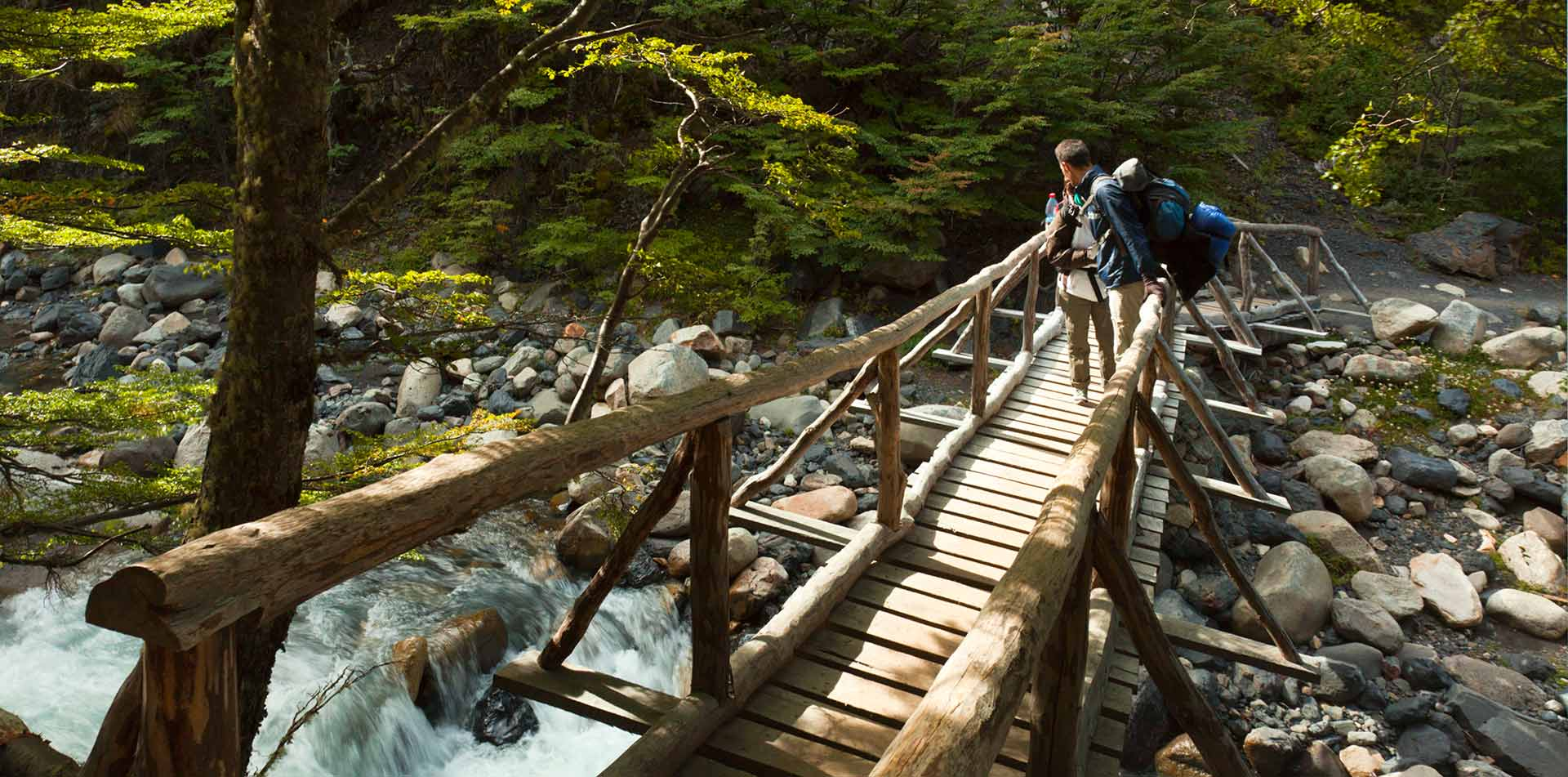 South America Chile Overlook River Water Bridge Flowing Hiking - luxury vacation destinations
