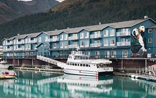 North America United States Alaska Seward Harbor 360 Hotel waterfront boat dock puffin - luxury vacation destinations