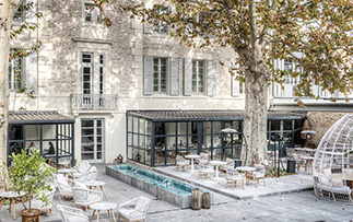 Europe France Saint-Remy-de-Provence Le Saint Remy hotel exterior courtyard lounge - luxury vacation destinations