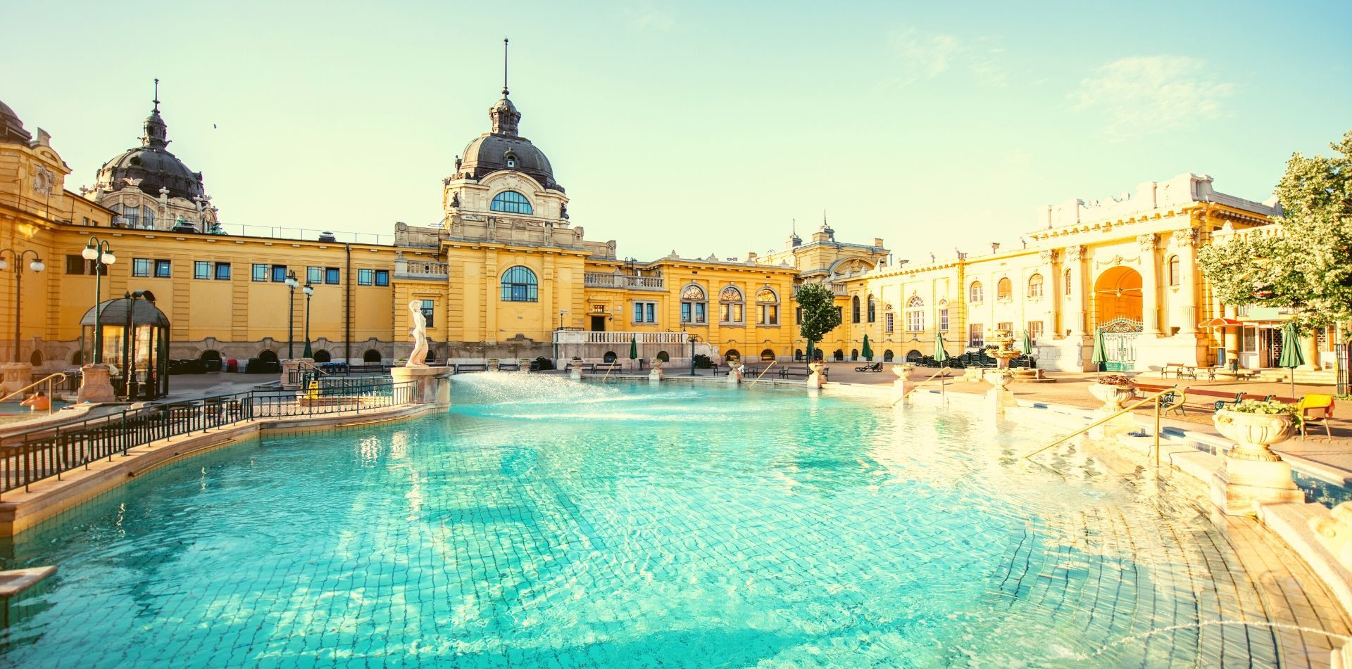 Europe Hungary Budapest Széchenyi Thermal Bath pools and spa - luxury vacation destinations