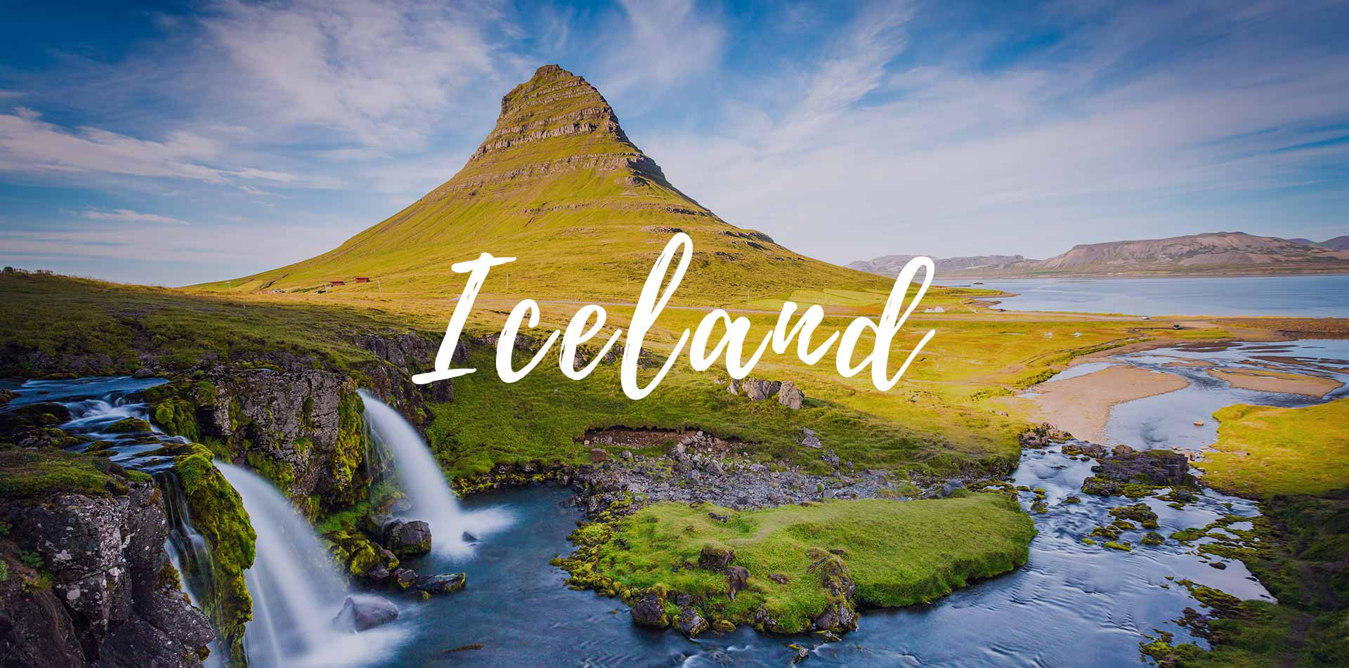 Europe Iceland Snaefellsnesnes waterfall with Kirkjufell Mountain - luxury vacation destinations