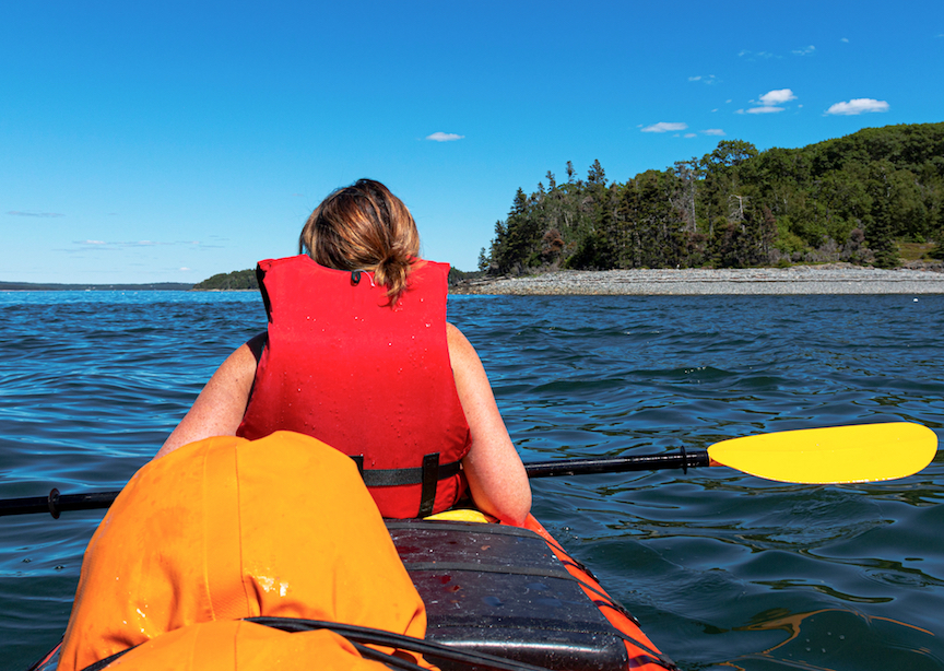Kayaking Frenchmans bay Bar Harbor Maine Porcupine Islands