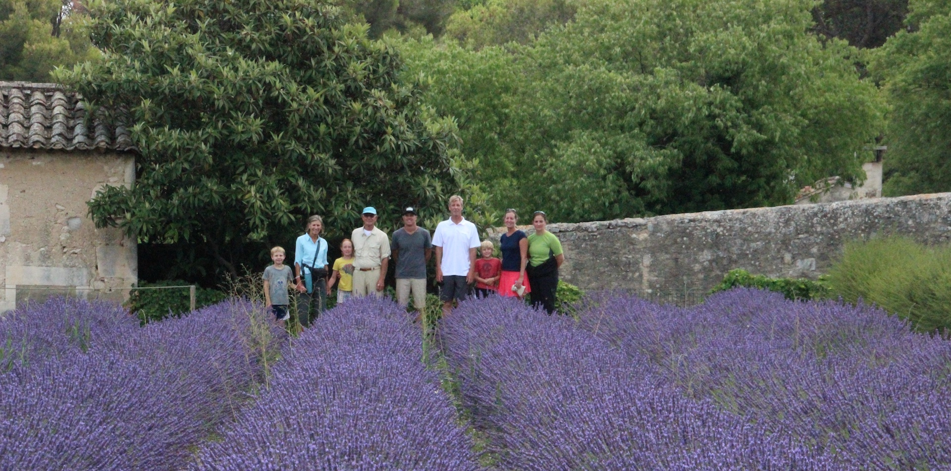 Family in lavender field Provence