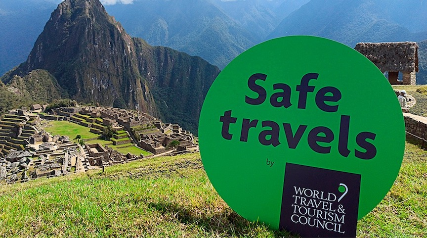 Machu Pichu Peru Safe Travels Stamp Sign from Peru.info